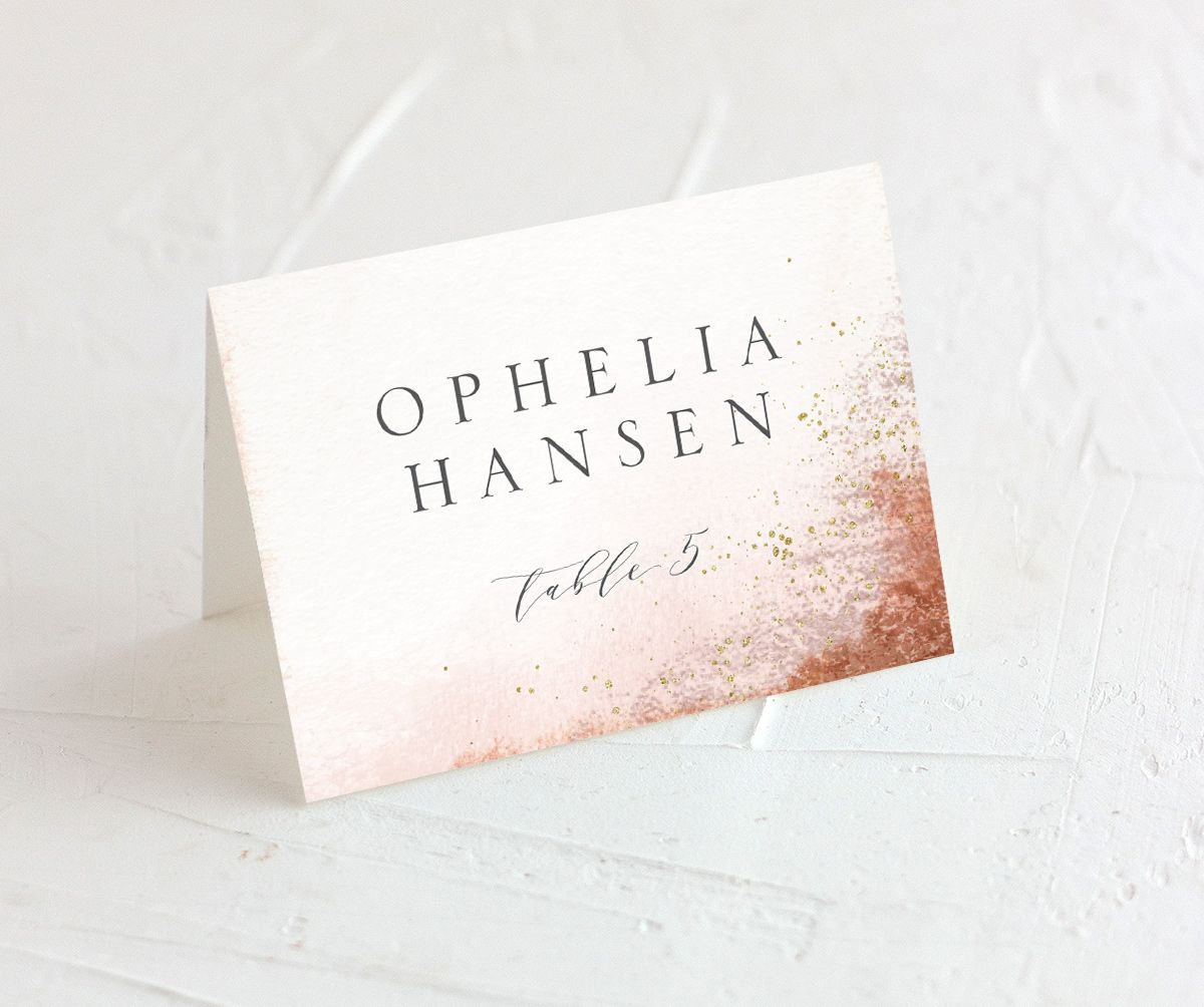 organic luxe place cards in orange