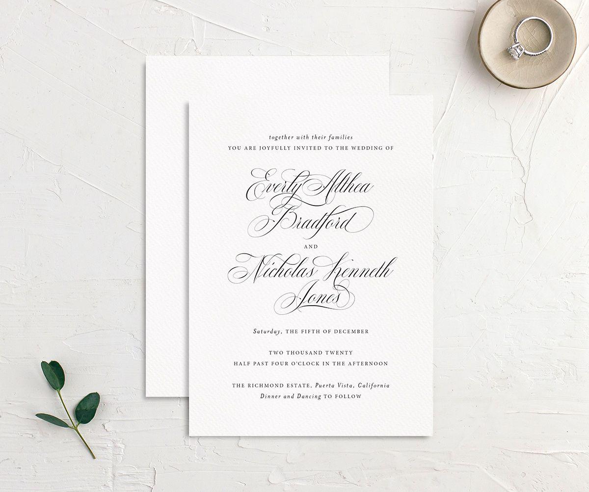 Exquisite Calligraphy Wedding Invitations | elli