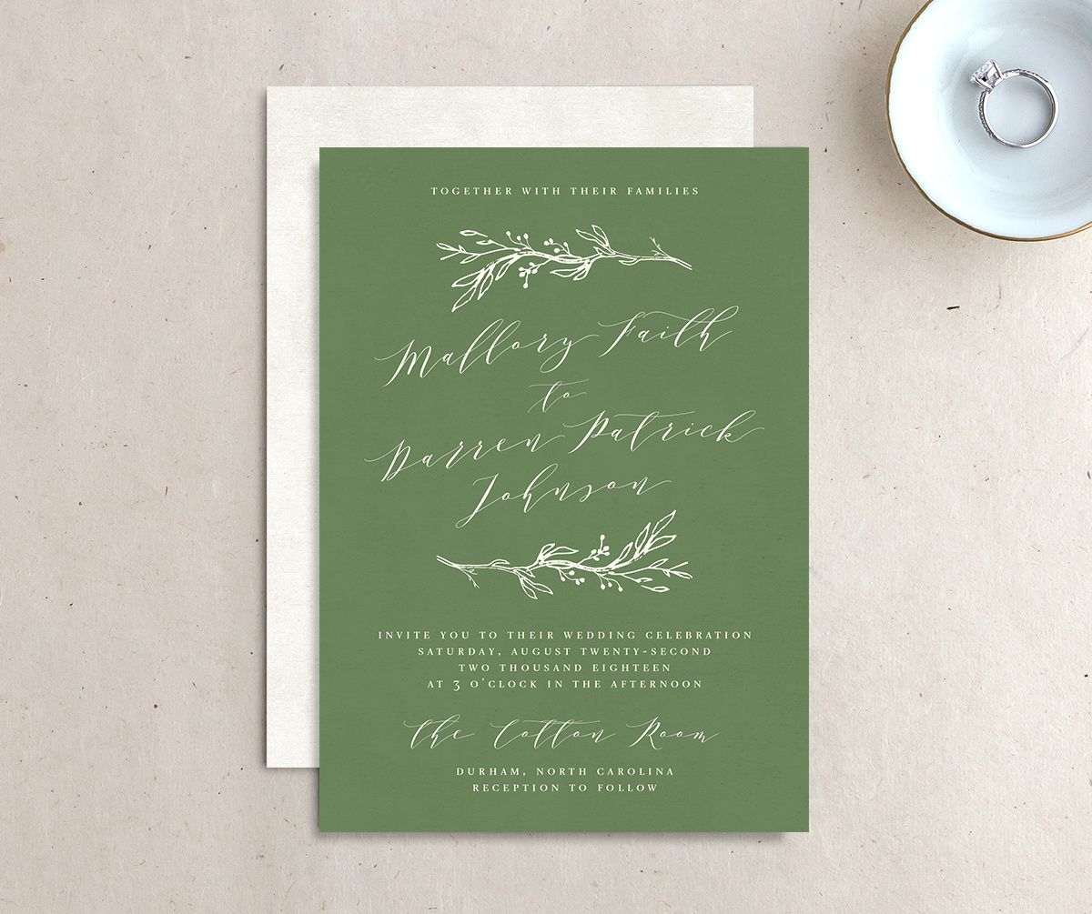 rustic elegance wedding invites