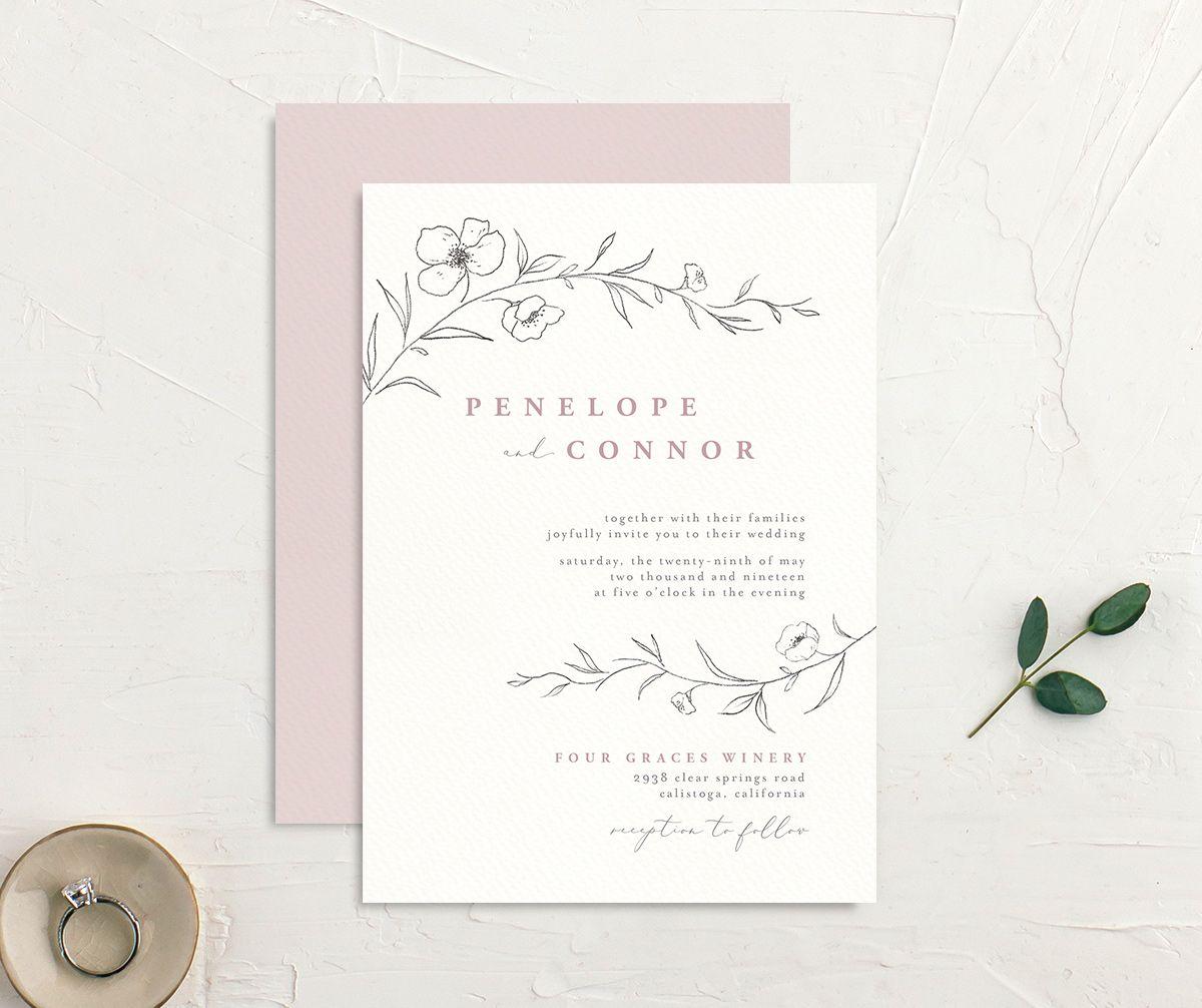 Graceful Botanical Wedding Invitations | elli