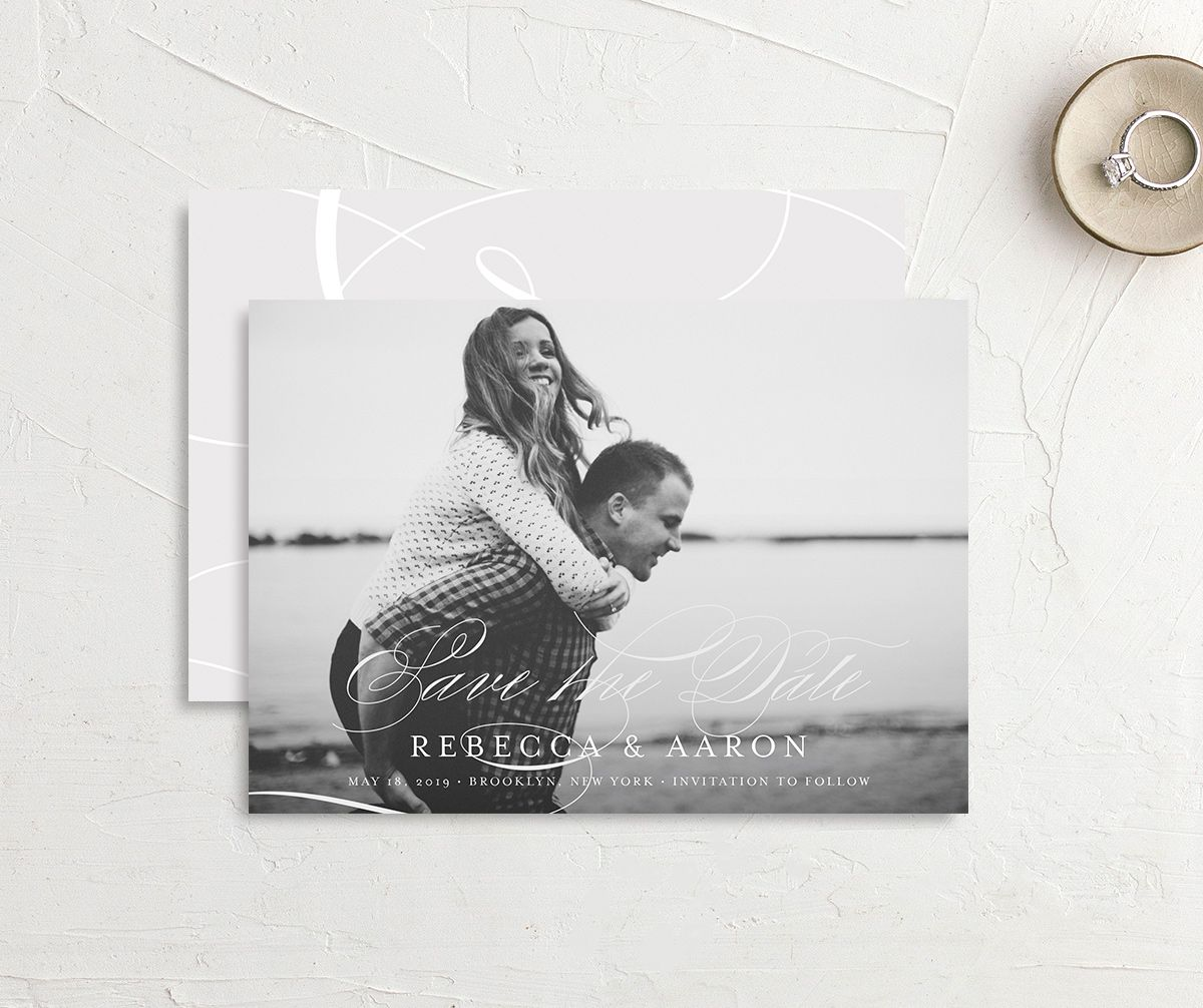 elegantly initialed save the date