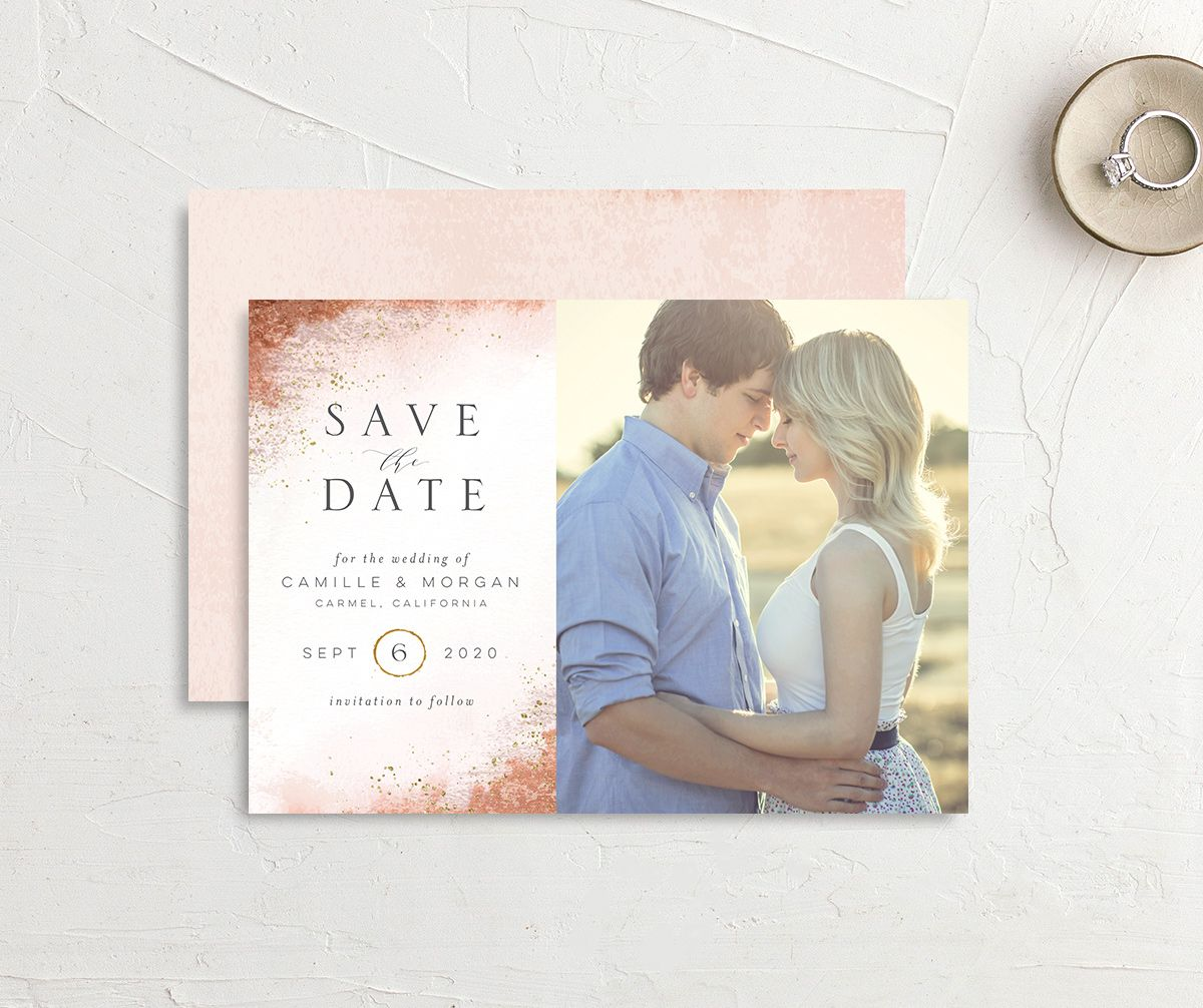organic luxe photo save the dates