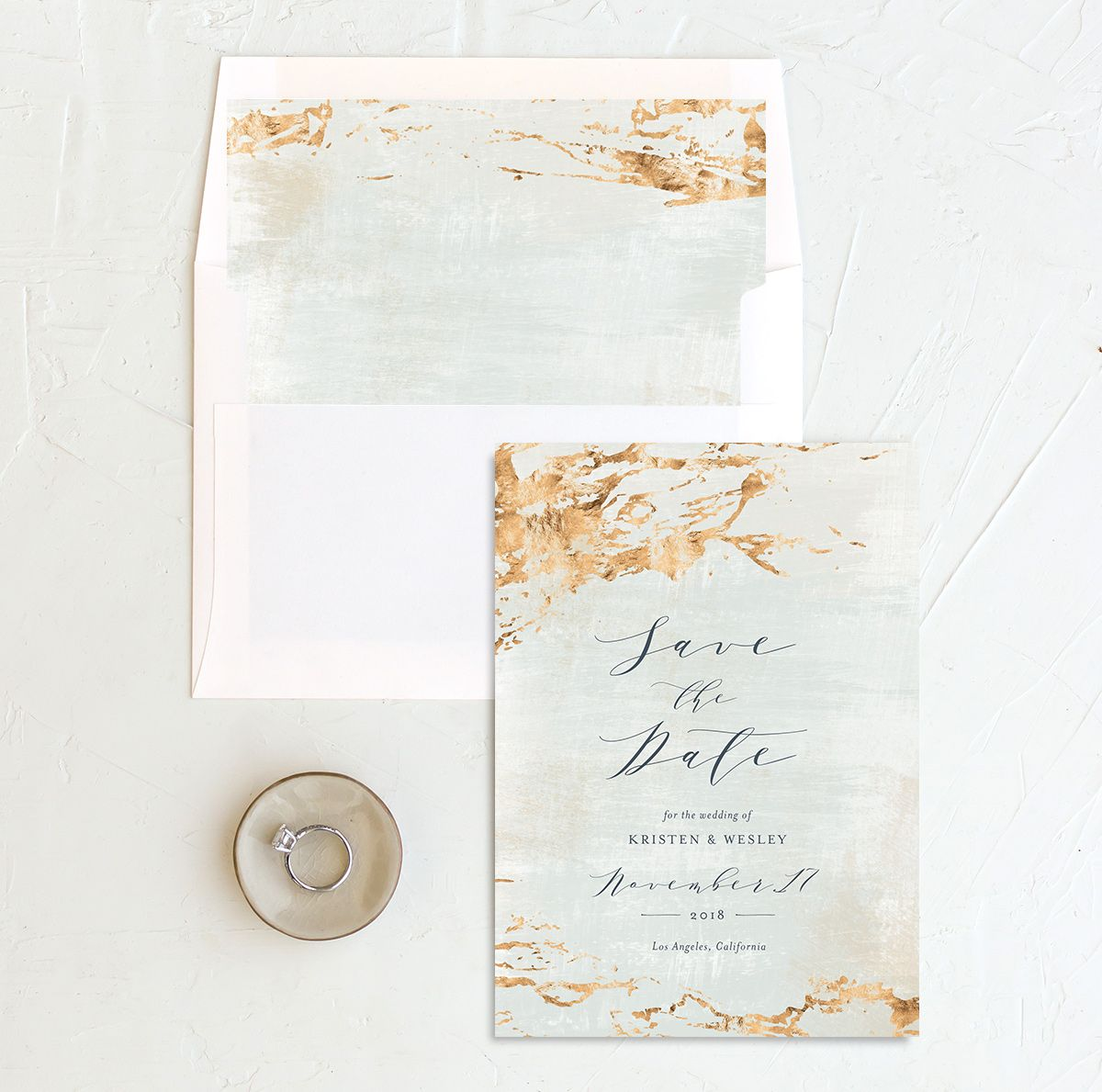 earthy organic save the date cards