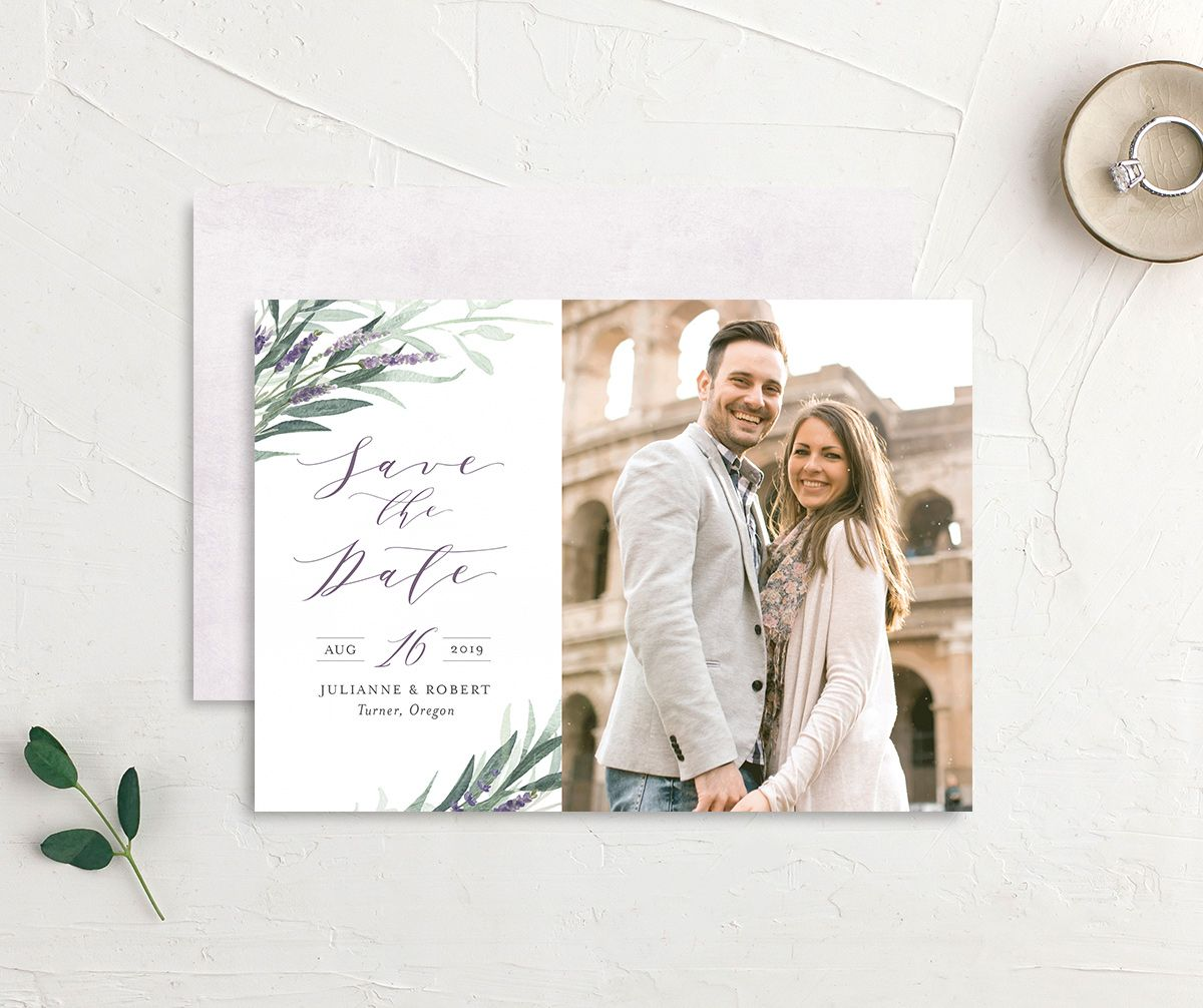 lavender sage photo save the dates