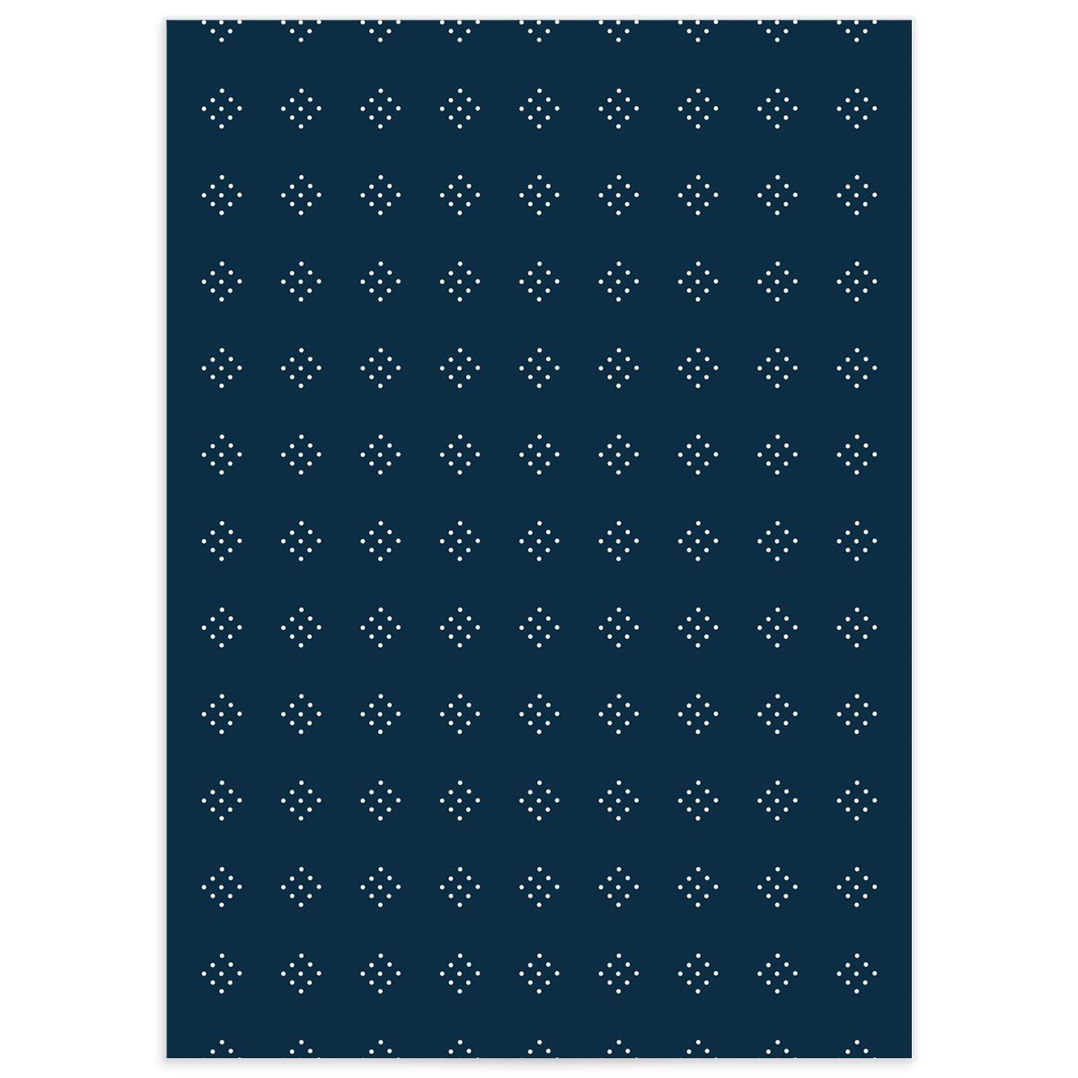 Formal Ampersand Enclosure Card back in navy