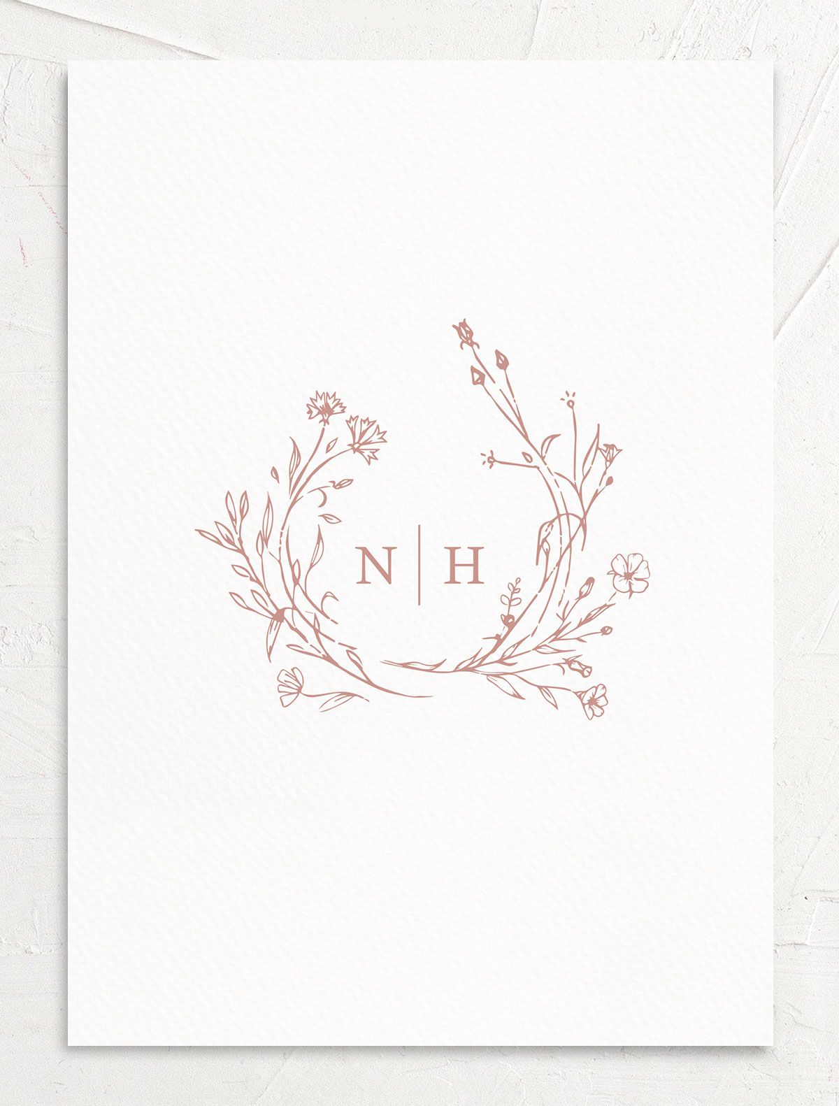 Natural Monogram invite back in pink