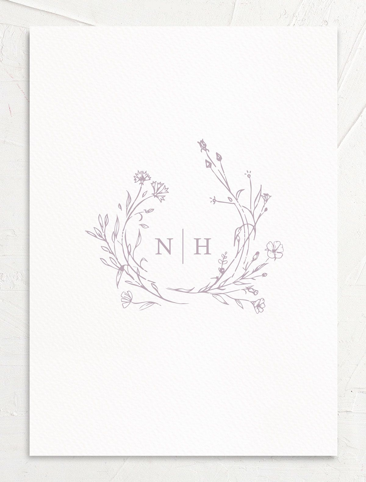 Natural Monogram invite back in purple