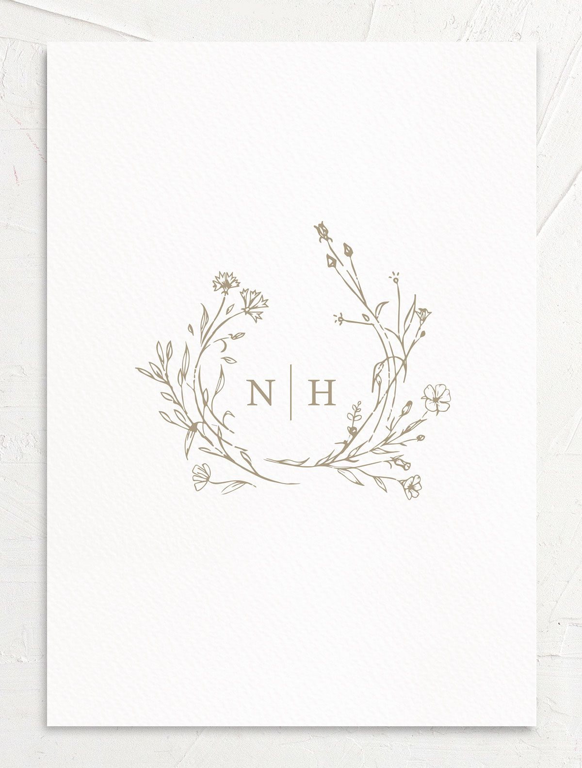 Natural Monogram invite back in tan