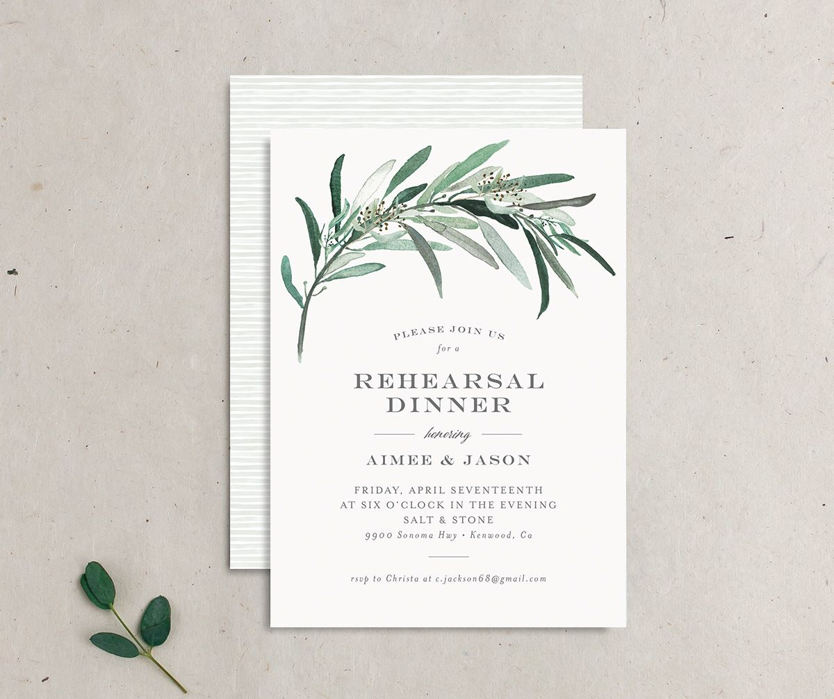 Lush Greenery Rehearsal Dinner invitation
