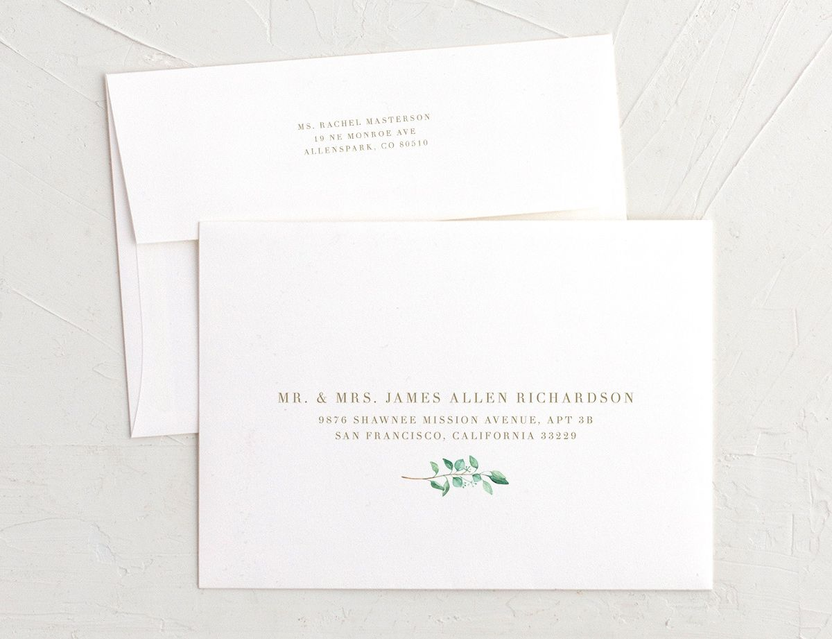 Elegant Eucalyptus Recipient Address Printing