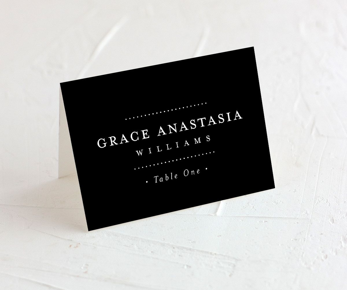 Formal Ampersand Place Card black