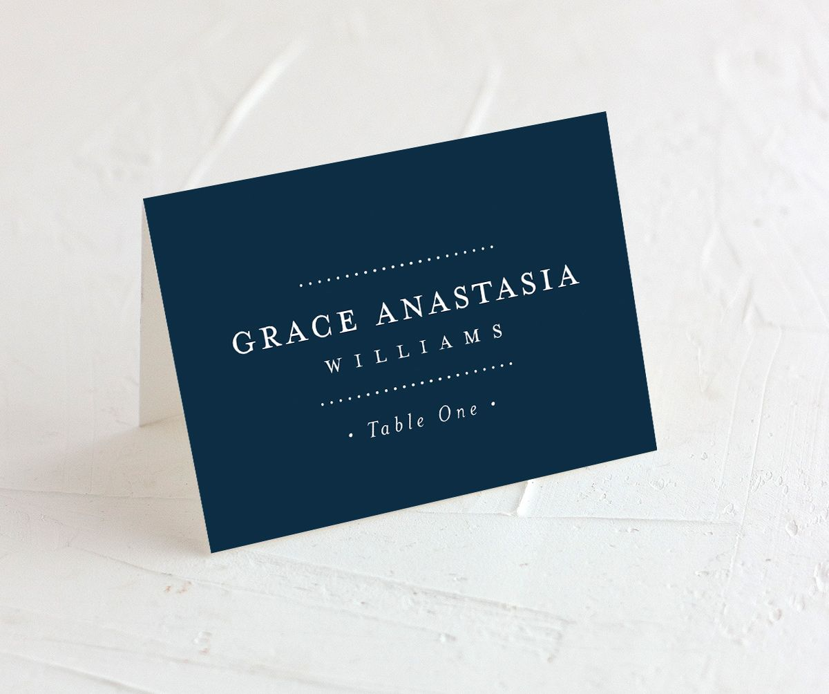 Formal Ampersand Place Card navy