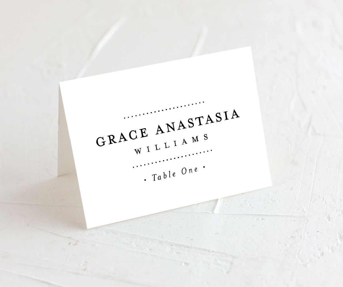 Formal Ampersand Place Card white