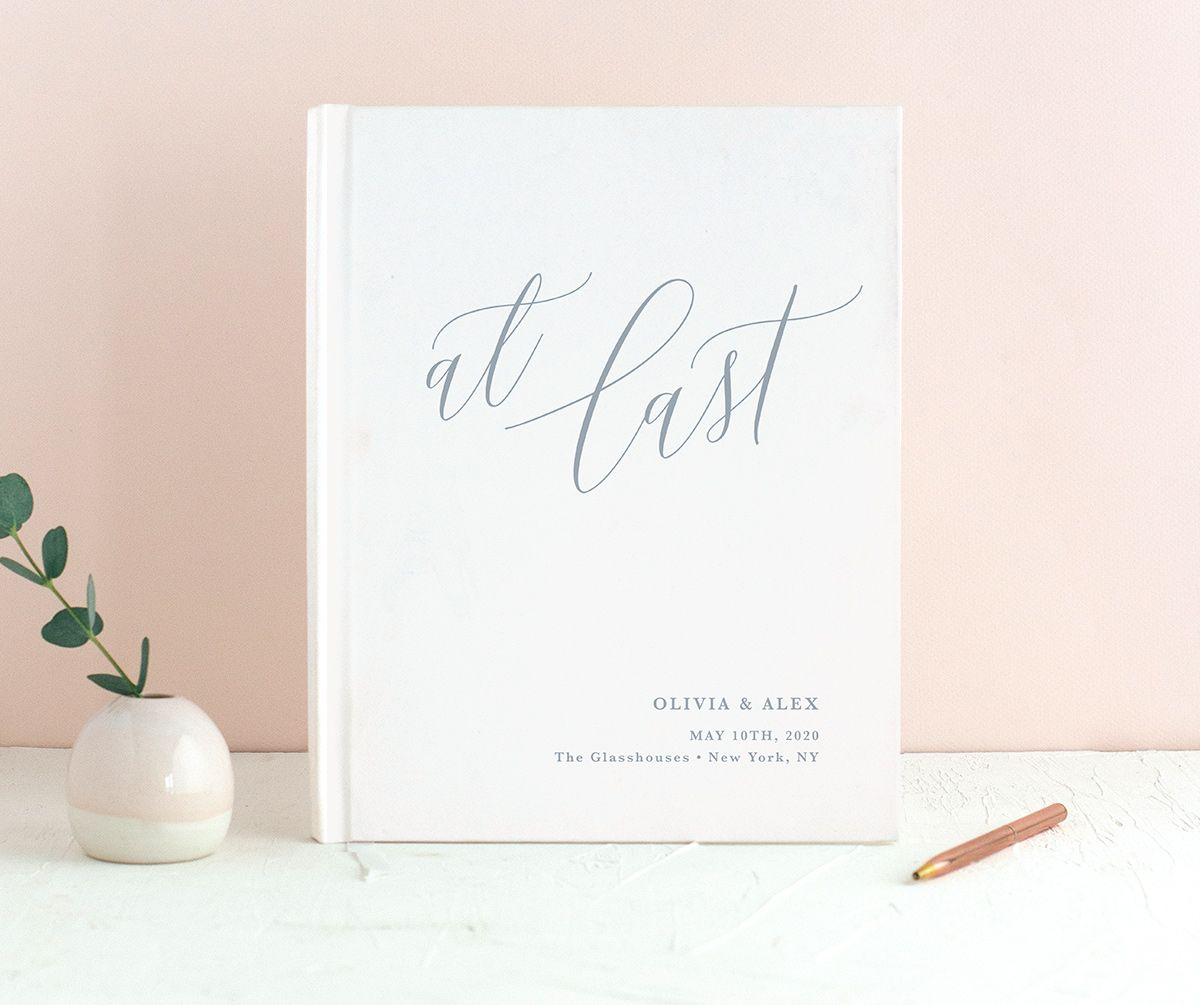 At Last wedding guest book