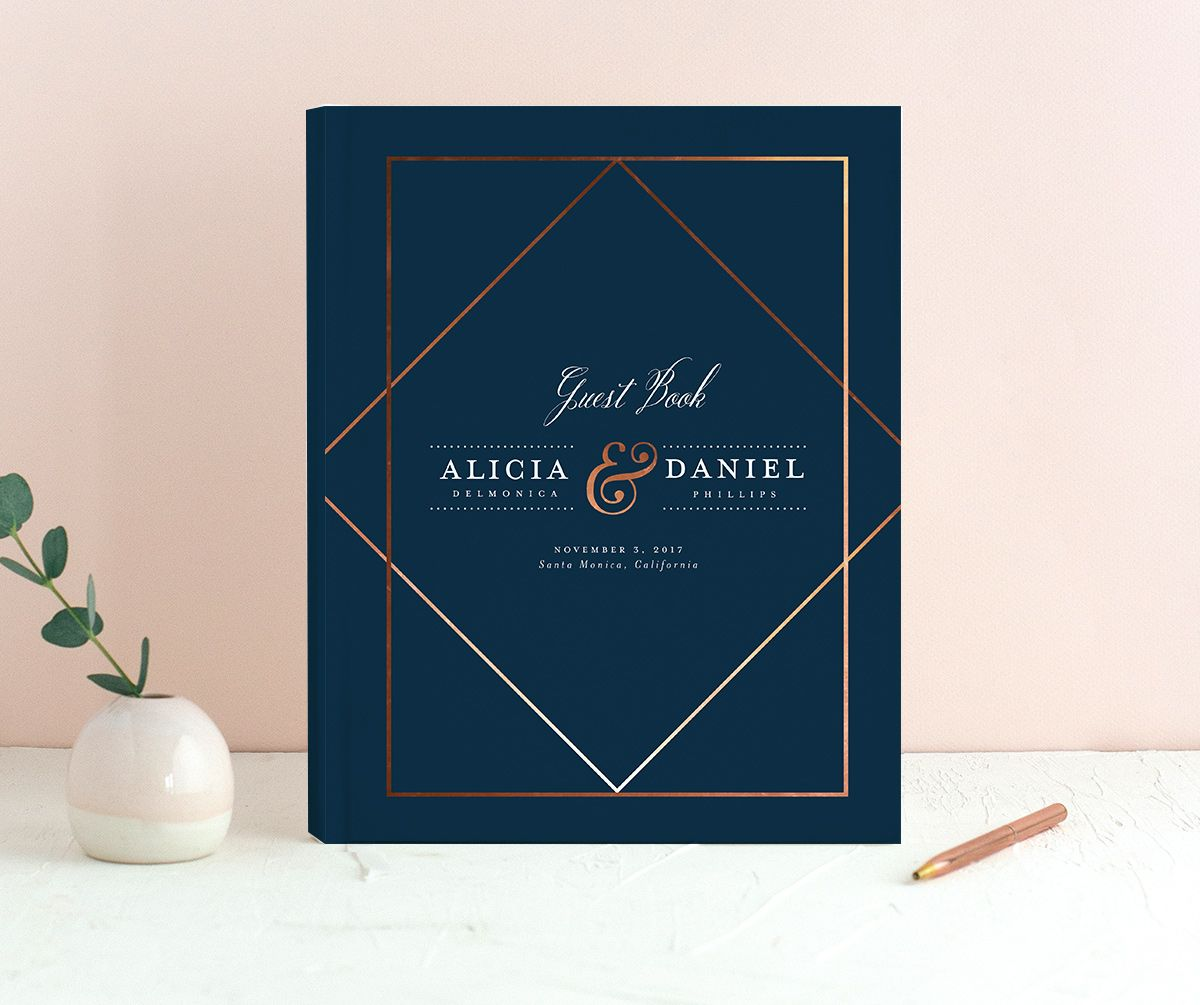 Formal Ampersand Guest Book front navy