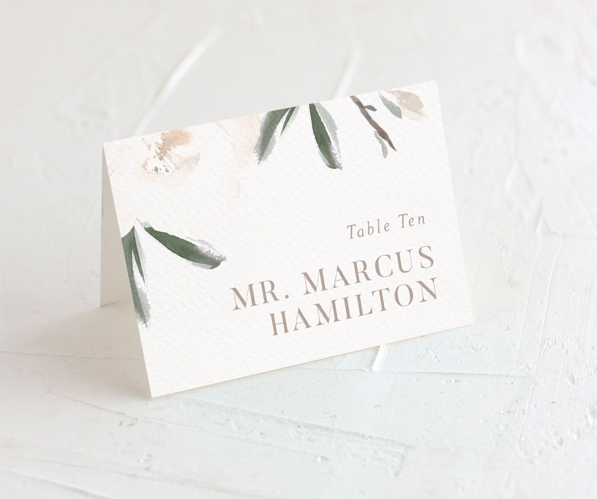Elegant Garden place card green