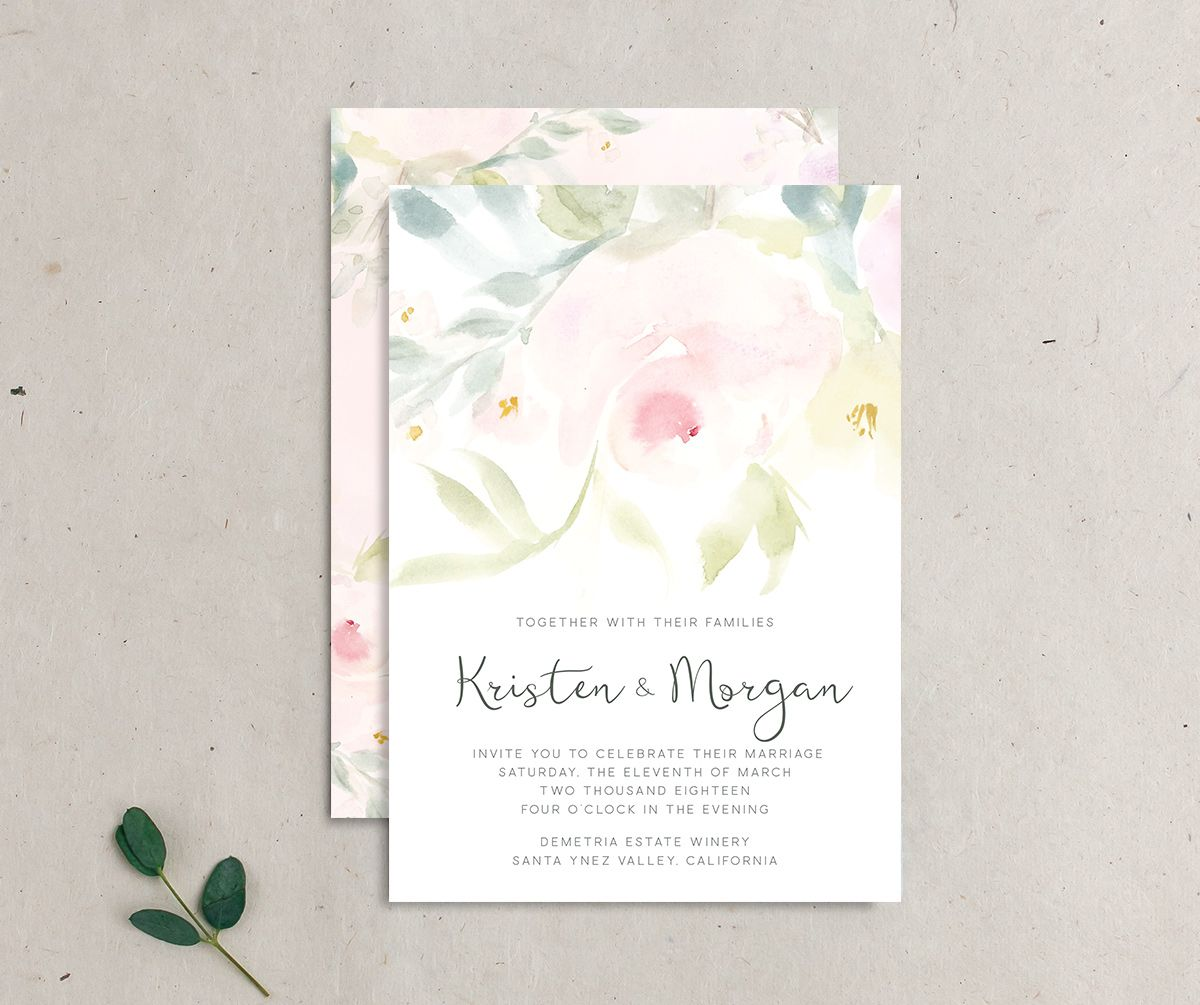 romantic floral invitation merch