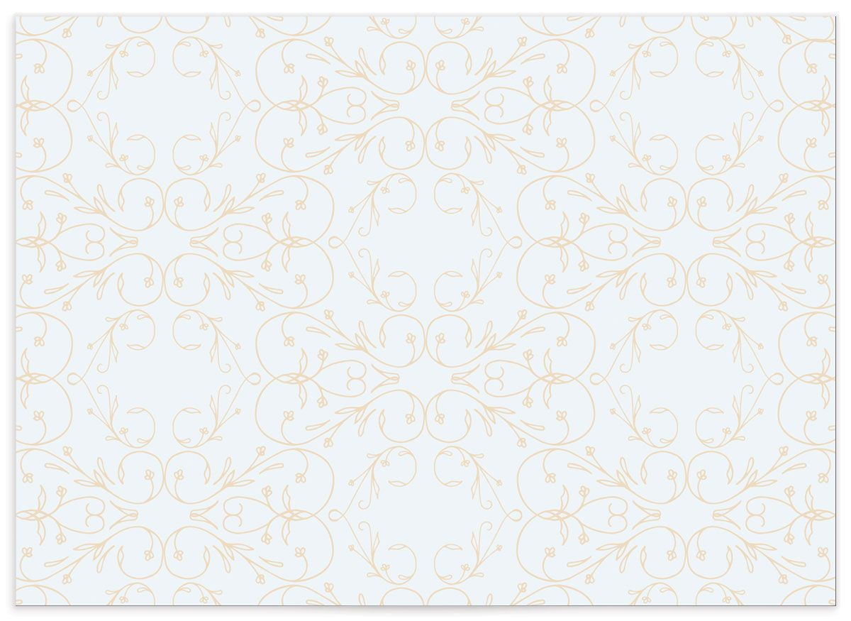 vintage luxe wedding enclosure card in navy back
