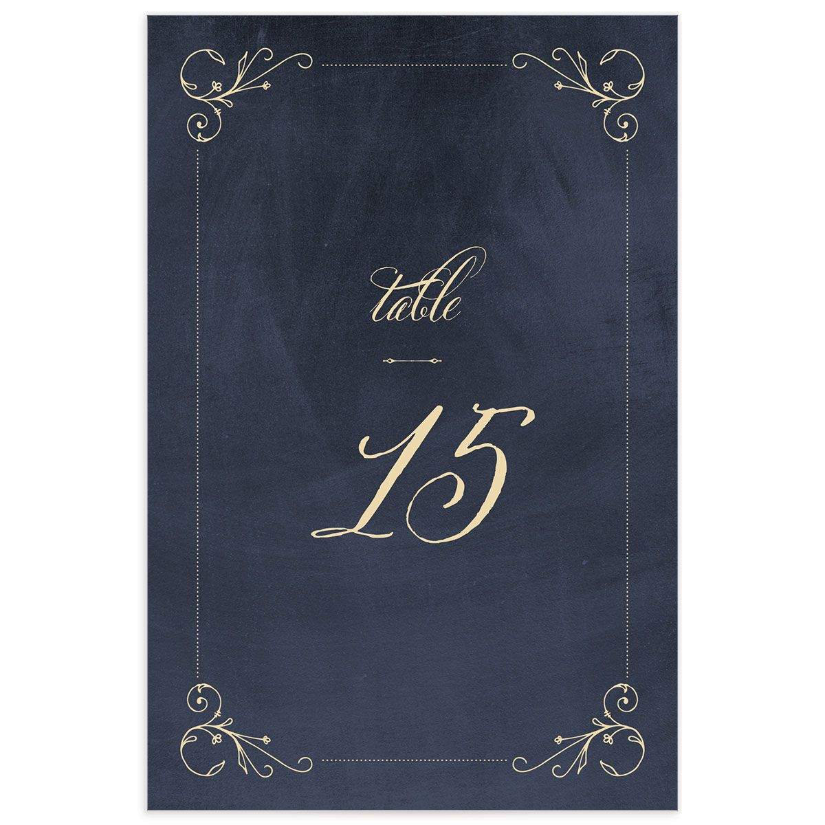 vintage luxe table numbers in navy