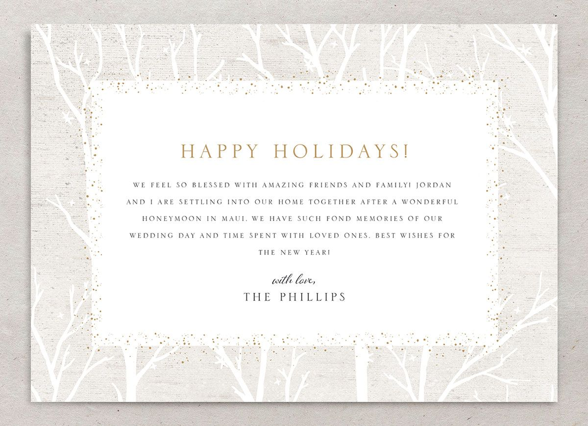 Rustic Birch holiday card back