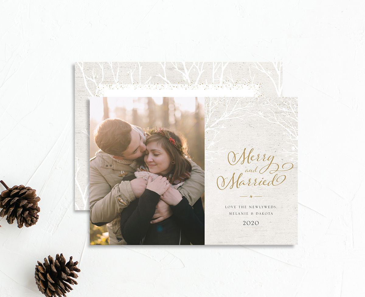 Rustic Birch holiday card