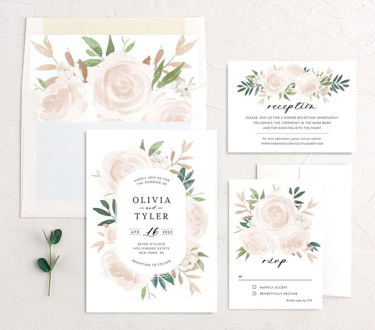 Floral Bouquet wedding suite pink
