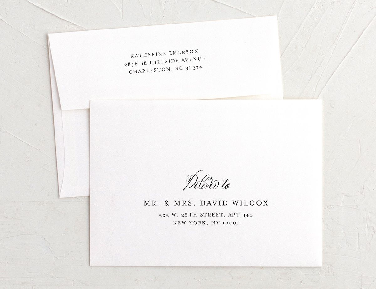 vintage luxe recipient address printing envelopes