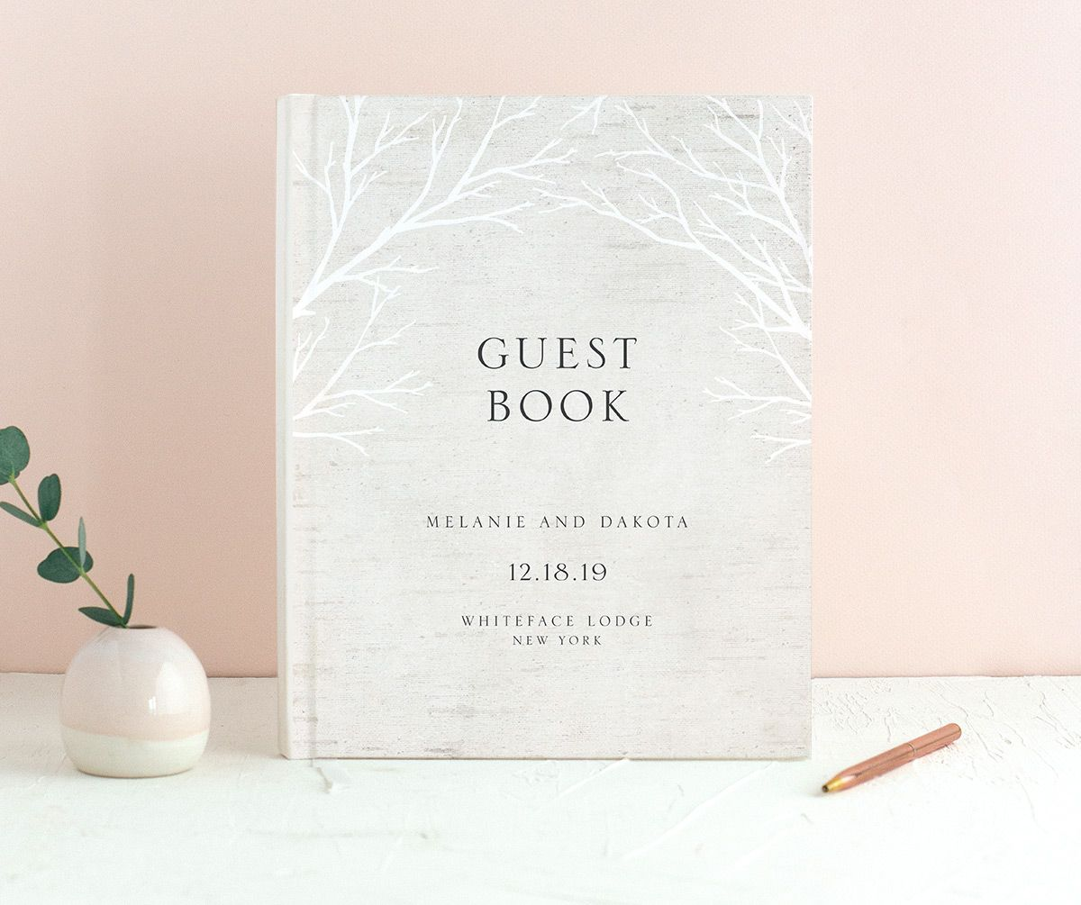Rustic Birch guest book