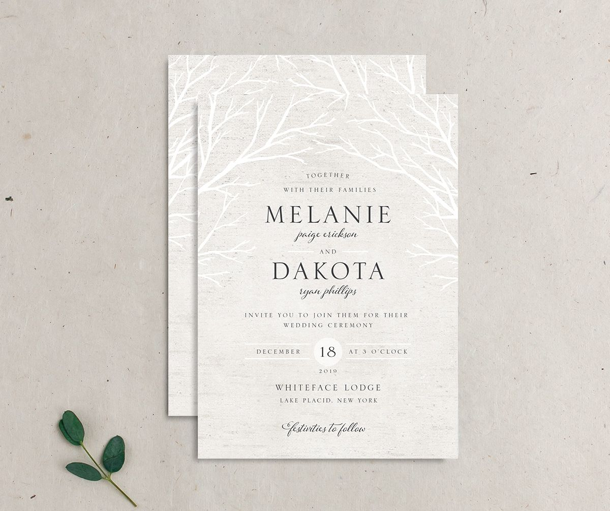Rustic Birch invitation