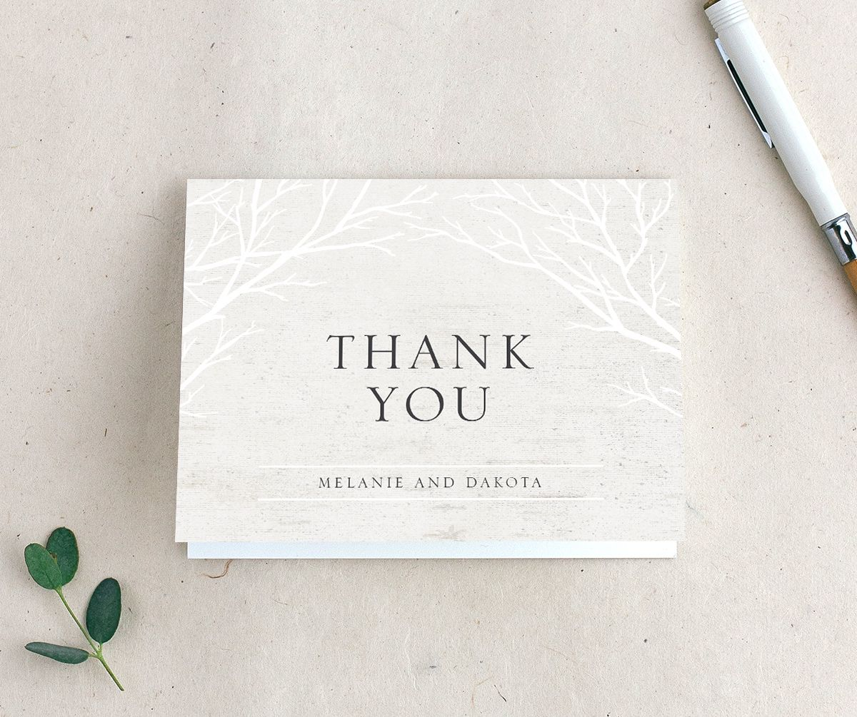 Rustic Birch thank you card