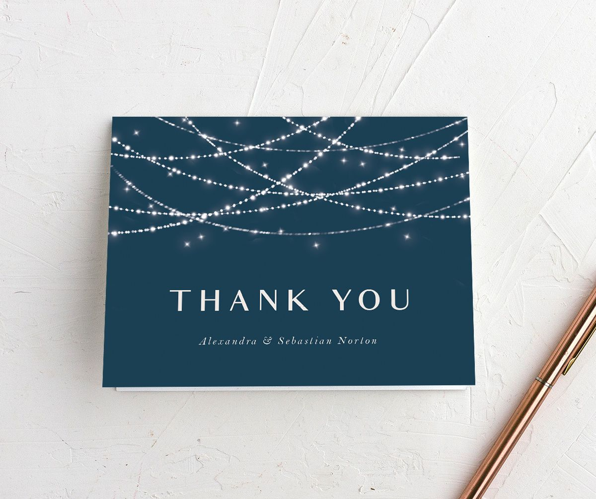 Elegant Lights personalized thank you cards