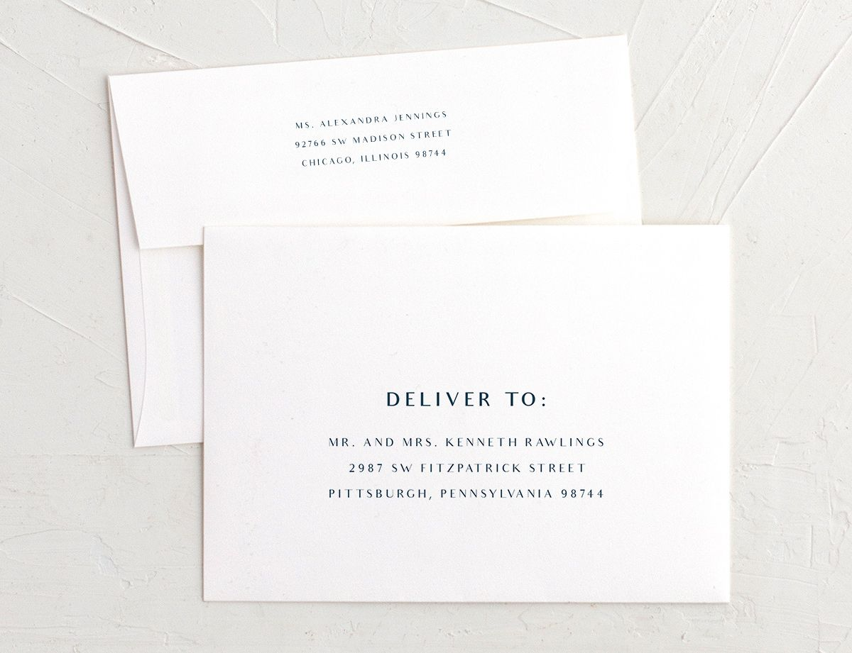 Elegant lights recipient address envelope printing