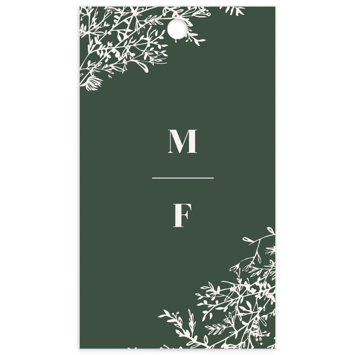 Blooming Botanical Wedding Gift Tags back in green