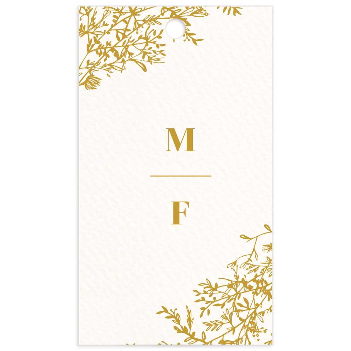 Blooming Botanical Wedding Gift Tags back in mustard