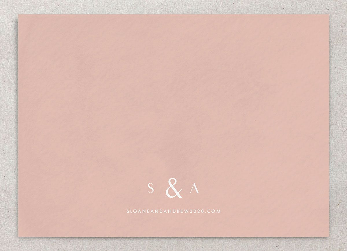 Abstract Watercolor Save The Date Card Back in Teal