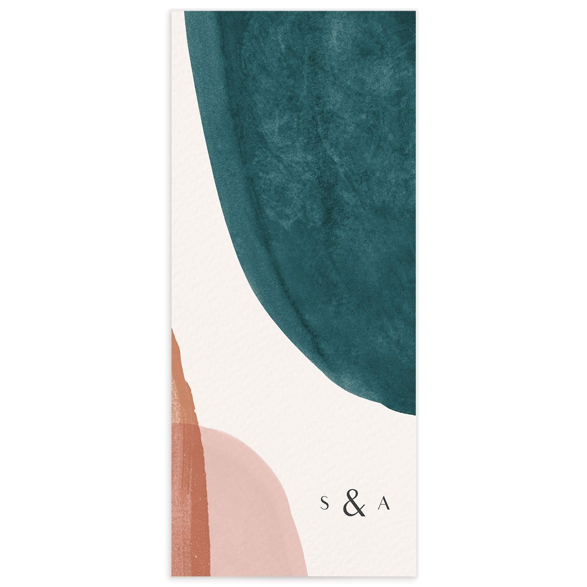 Abstract Watercolor Menu back in Teal