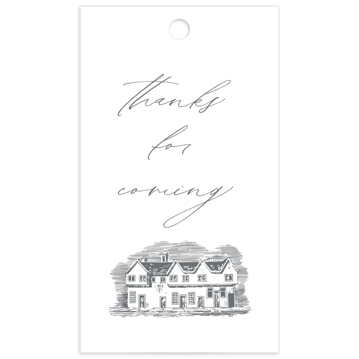 Classic Landscape Wedding Gift Tag Front with Estate