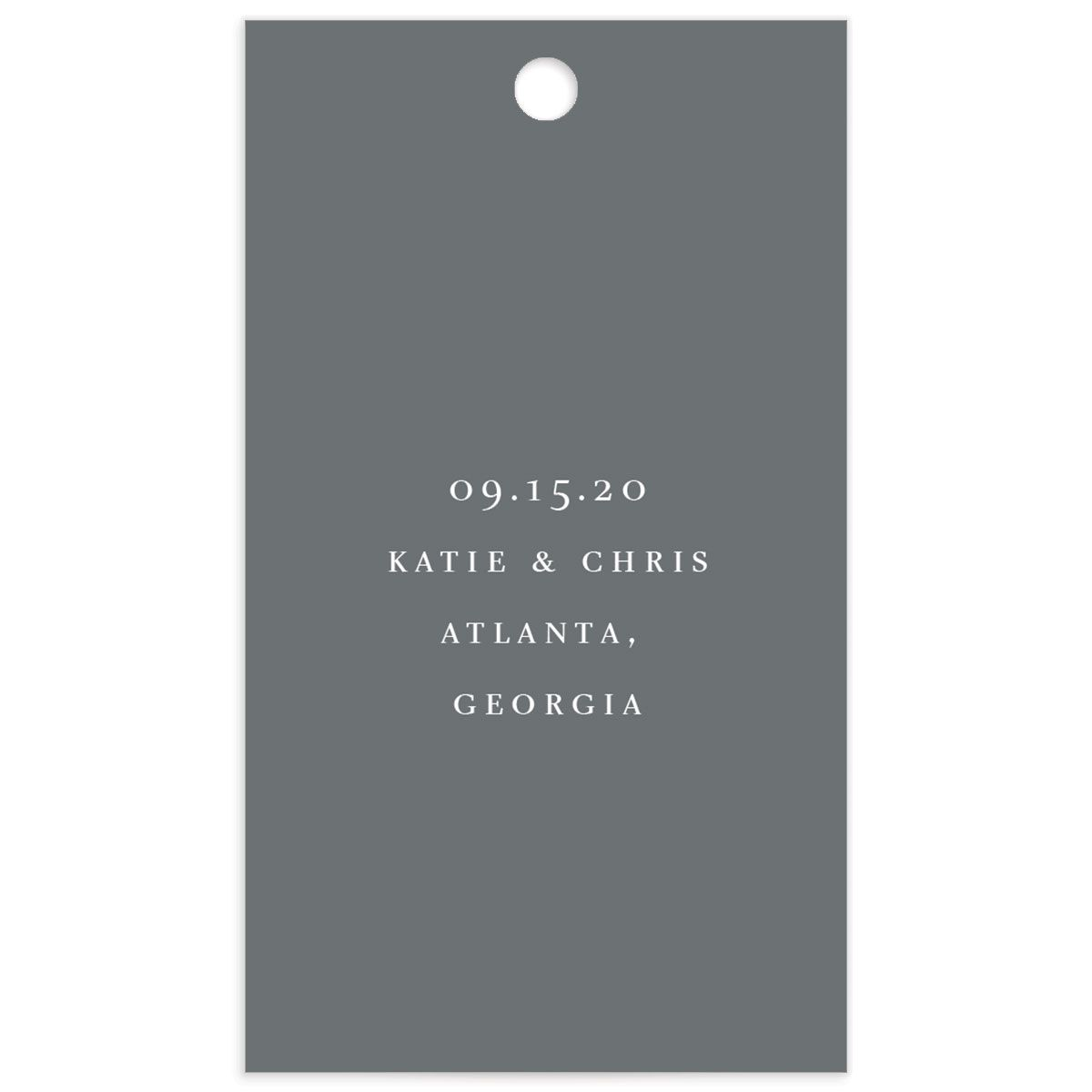 Classic Landscape Wedding Gift Tag back in Grey