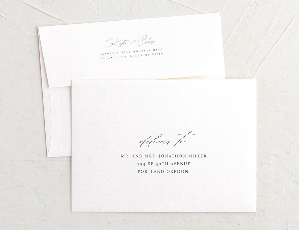 Classic Landscape Rehearsal Dinner Invitation Envelope