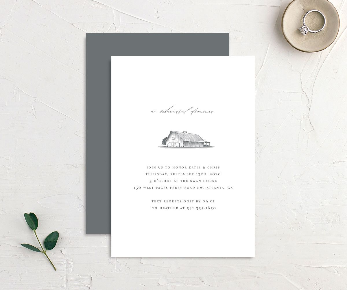 Classic Landscape Rehearsal Dinner front and back with Barn