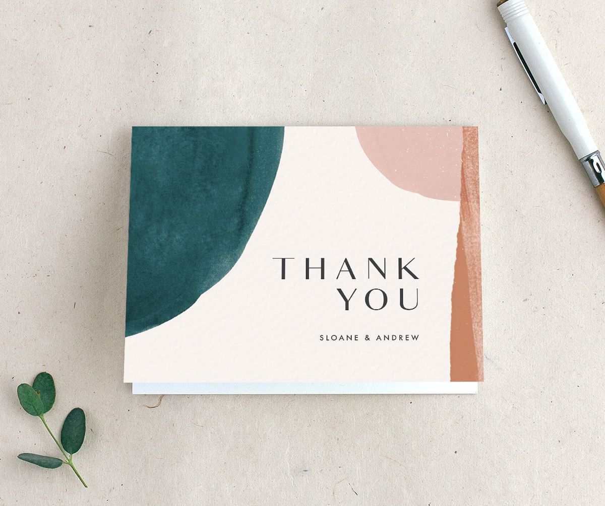 Wedding Thank You Card Merch in Teal