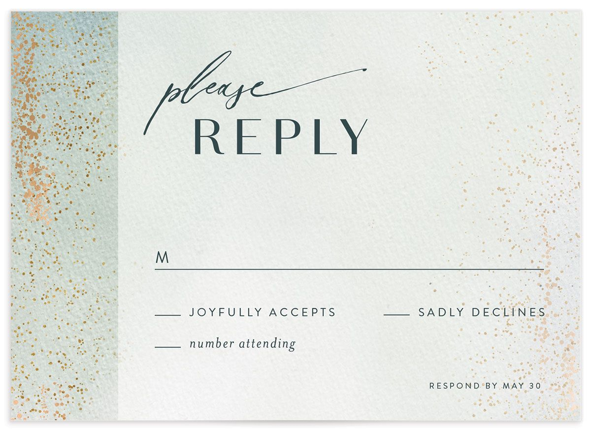 Awash RSVP card front green