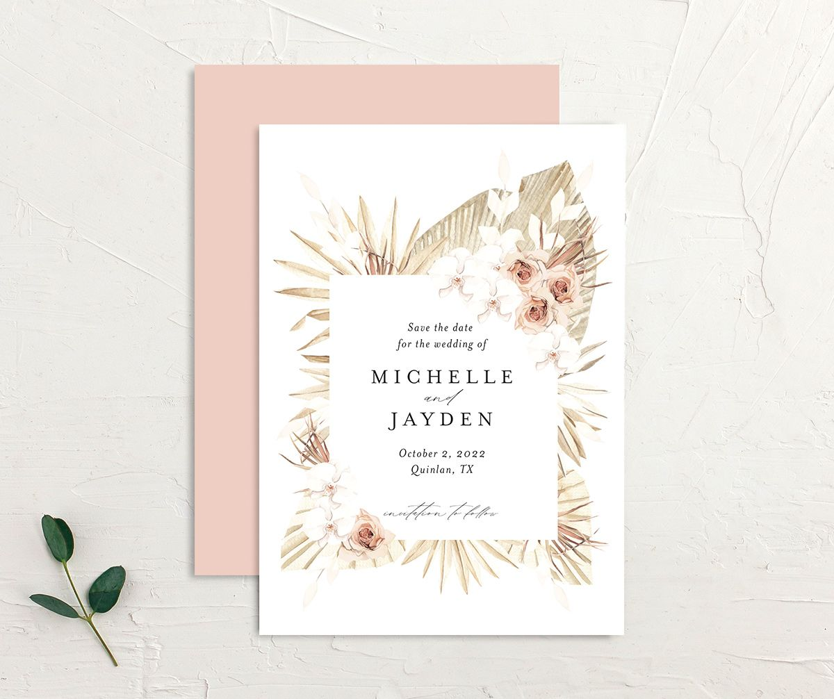 Neutral Bohemian Save The Date Cards The Knot