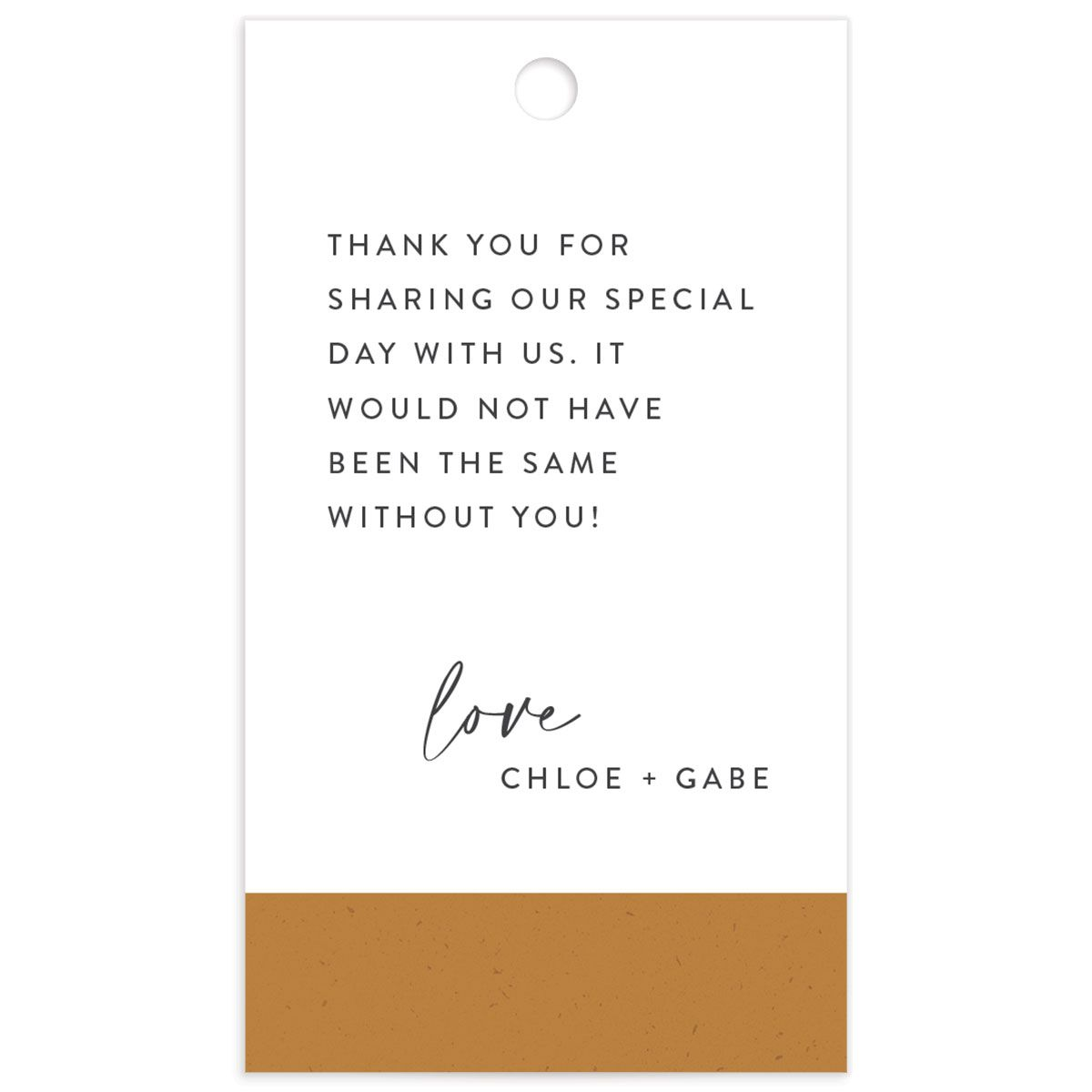 Minimal Chic Wedding Favor Gift Tags back closeup