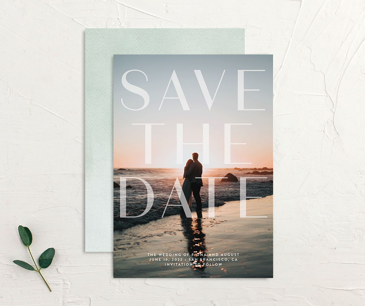 Awash save the date front and back green