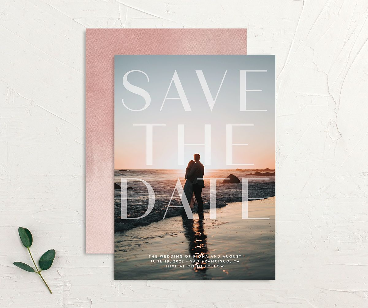 Awash save the date front and back pink