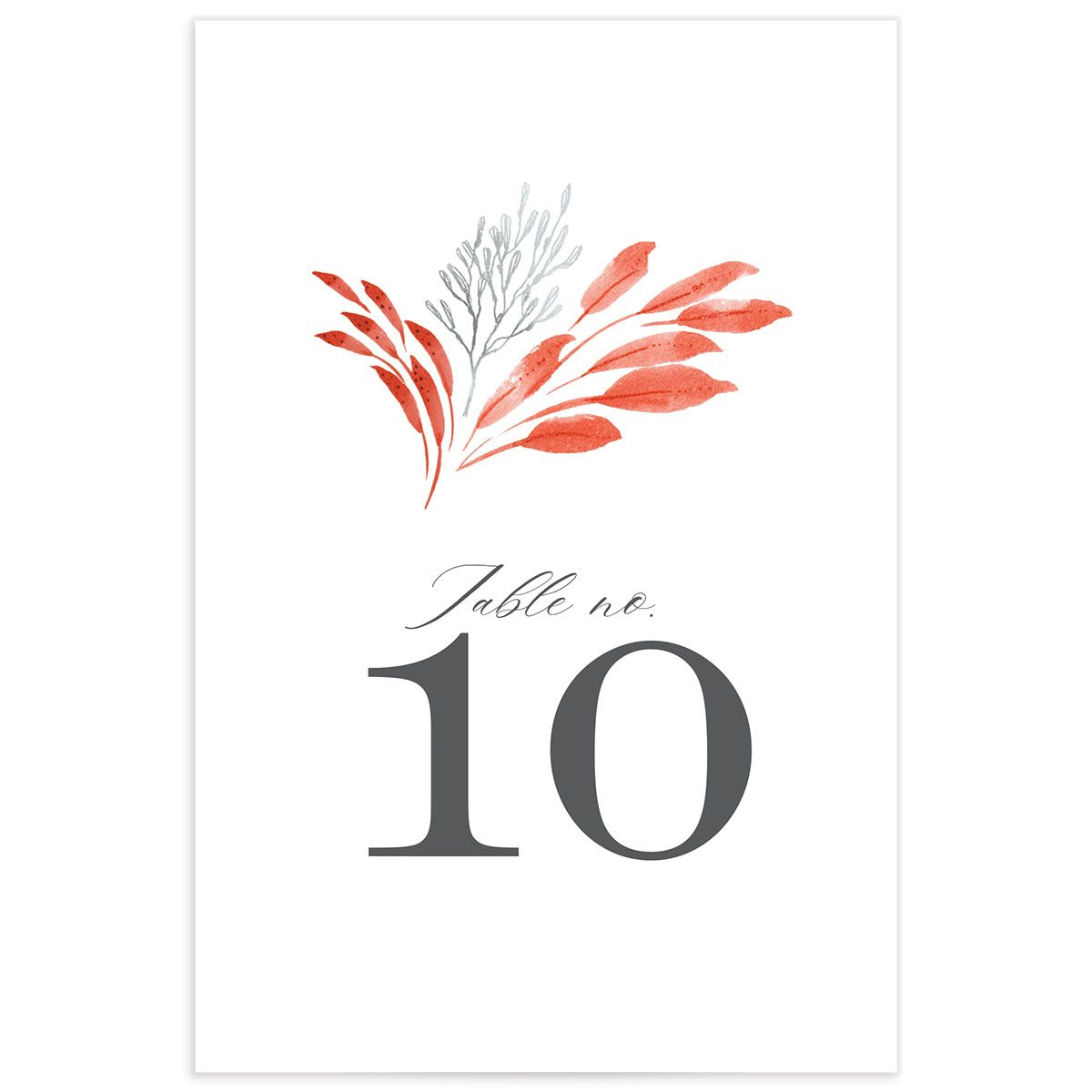 Elegant Beach table number front pink
