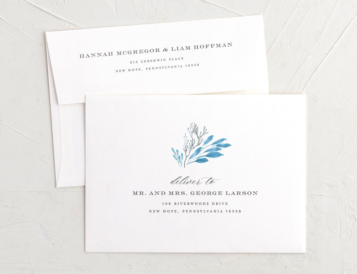 Elegant Beach envelopes blue