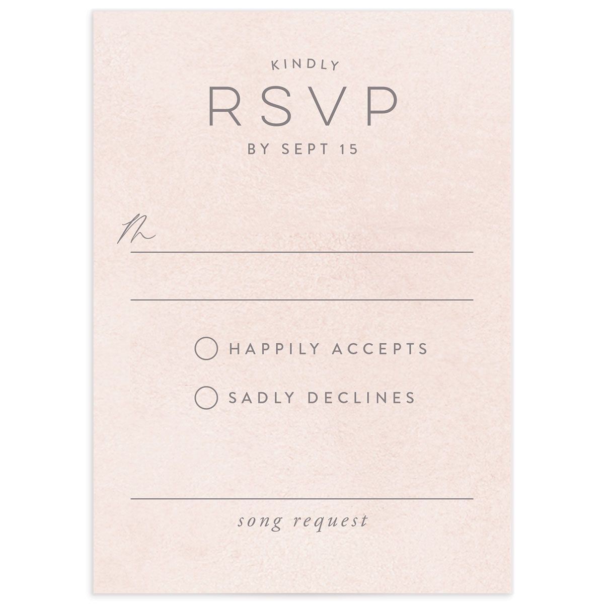 Painted Desert Wedding Response Card Front Pink