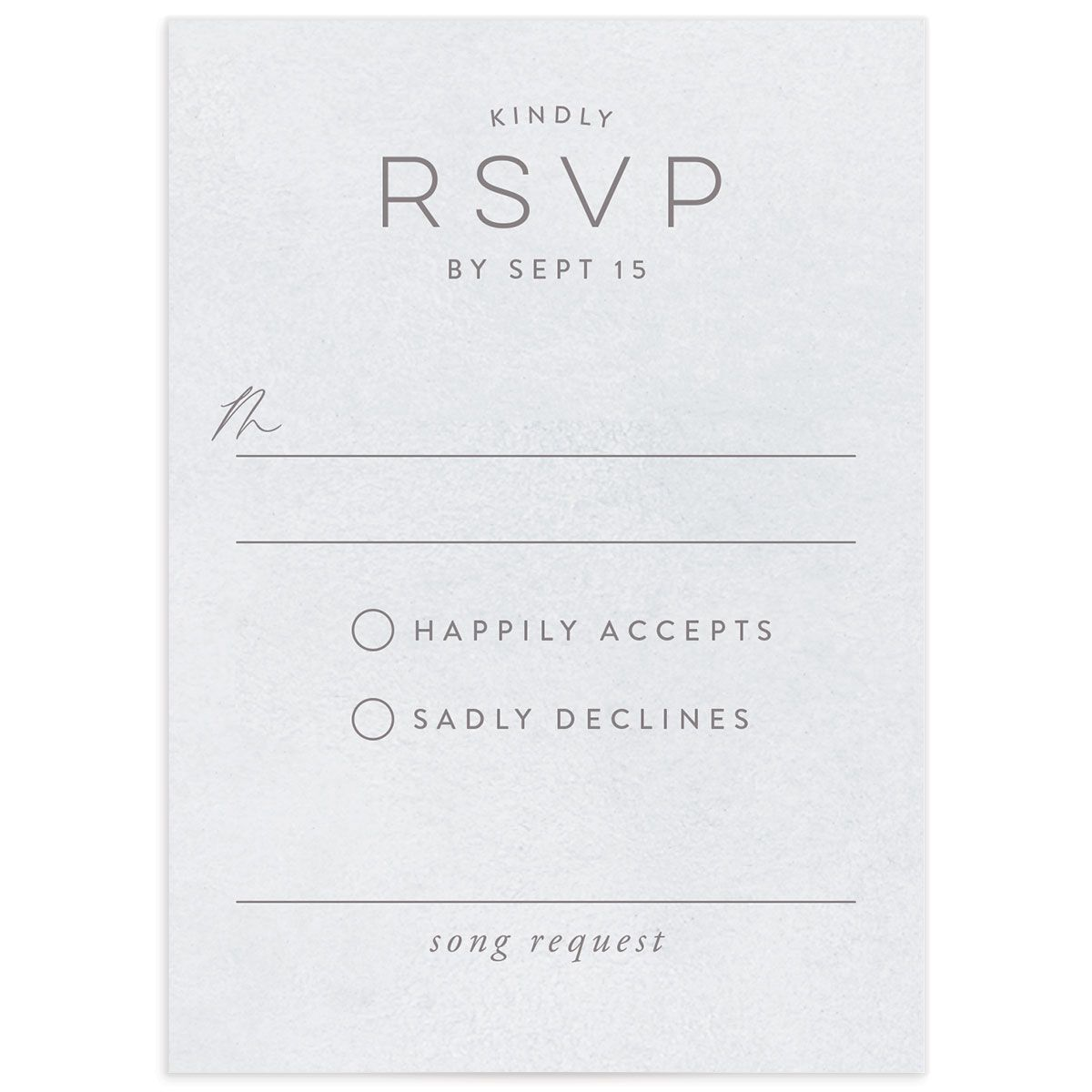 Painted Desert Wedding Response Card Front Purple